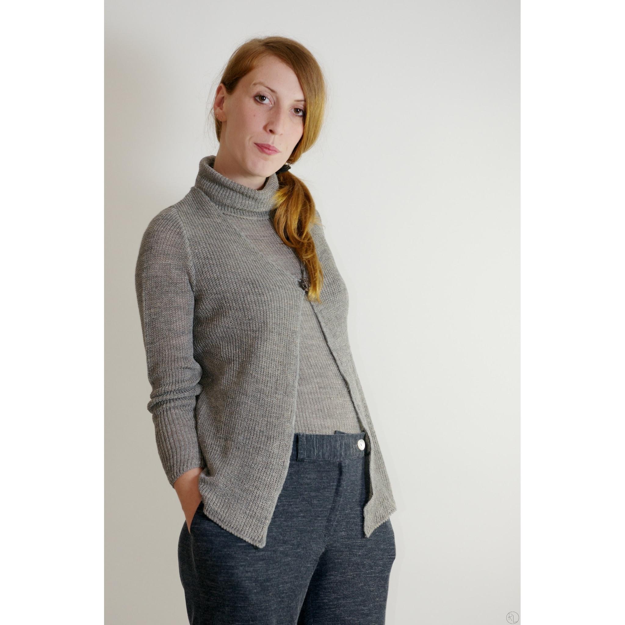 quality design 7e5a6 1fffd GIACCHINA UN BOTTONE lana/lino biologici e seta - grigio mélange