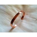 braccialetto salute puro rame liscio con incisioni laterali