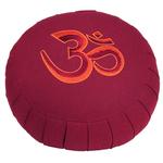 cuscino meditazione om bordeaux