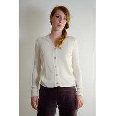 Cardigan bianco di lana biologica