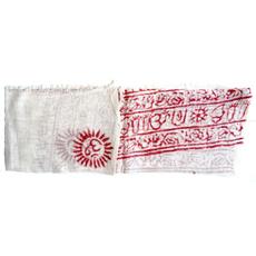 sciarpa bianca con mantra