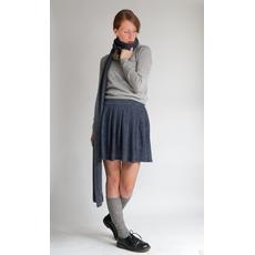 sciarpa grigio antracite bio