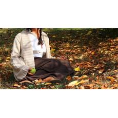 Geranium cardigan donna senza bottoni con fondo manica largo in tg Unica