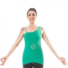 canotta yoga anahata verde