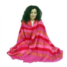 Coperta per meditazione XL - rosa/rossa/arancio