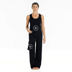 outfit completo yoga nero