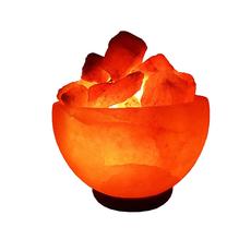 lampada sale himalayano di fuoco braciere