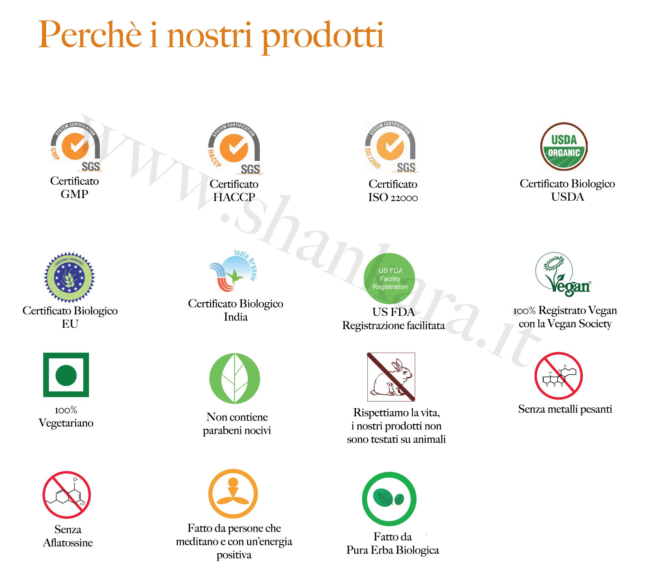 Certificati prodotti ayurvedici shankara.it